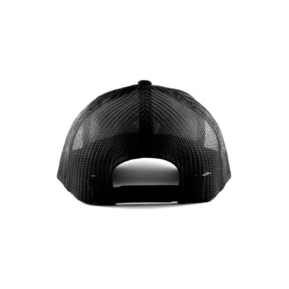 White Logo Black Mesh Hat Back