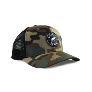 Black Logo Camo Hat