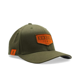 Kickback Shack Logo Army Flexfit Hat
