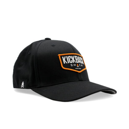 Kickback Shack Logo Black Flexfit Hat